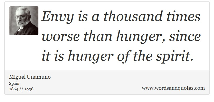 On Envy: Envy Is A Thousand Times Worse Than Hunger, Sin